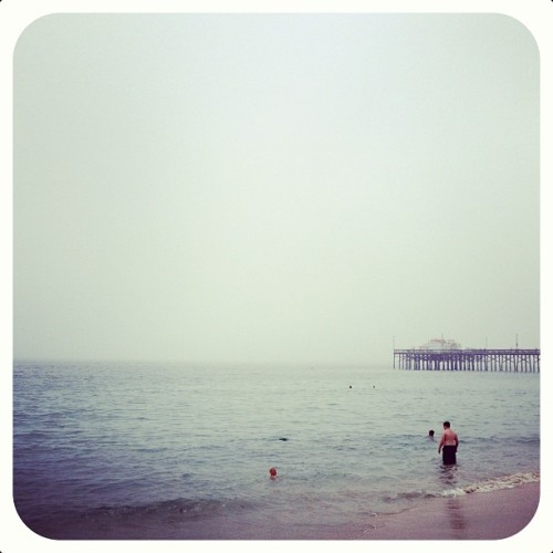 I miss it even when it's overcast. 🌊☁ #ocean #saltwaterinmyveins #imissthebeach #balboa