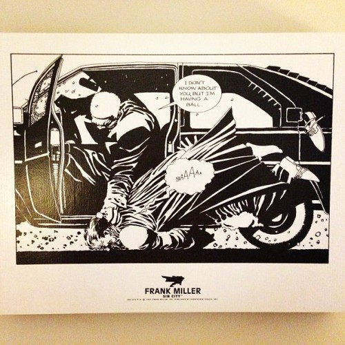 Sin City lithograph from 1997,hang'n in the ManCave. #SinCity #FrankMiller #DarkHorse #Comics #Art #DarkHorseComics #BasementLife