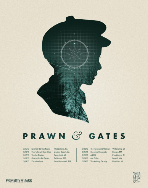 gatesnj:  We're happy to announce some dates with Prawn in March: 03/15 - Philadelphia, PA @ Michael Jordan house 03/16 - Virginia Beach, VA @ That's How I Beat Shaq 03/17 - Springfield, VA @ Tosche Station 03/18 - Baltimore, MD @ Charm City Art Space 03/19 - New Brunswick, NJ @ Paradise Lost 03/20 - Willimantic, CT @ The Handsome Women 03/21 - Boston, MA @ Brandeis University 03/22 - Providence, RI @ AS220 03/23 - Lowell, MA @ Ant Cellar 03/24 - Brooklyn, NY @ The Knitting Factory Check out gatesnj.com/dates for more info  WHY CAN'T YOU JUST BE IN TEXAS