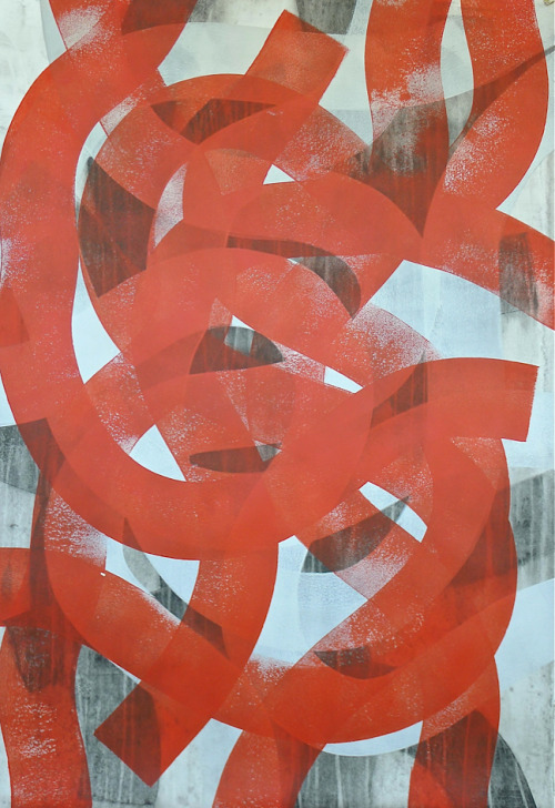 glovaskicom:  Labyrinth #2, acrylic on paper, 44x30, Glovaski  2012