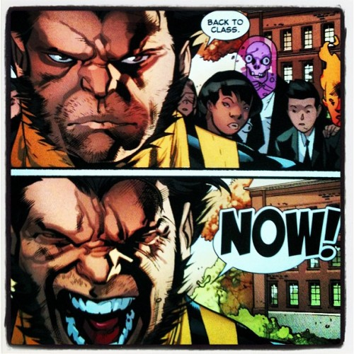 Great schooling #xmen #allnewxmen #marvel #comics #nerdgasm #wolverine #teacher