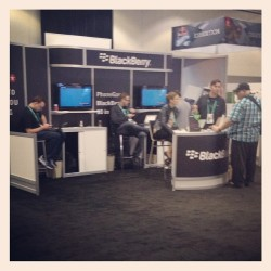 Not much of a crowd at the Blackberry booth. A for effort, guys. #adobemax  (at AdobeMAX 2013)