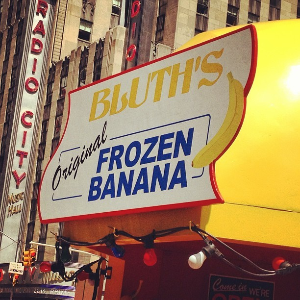 there's always money in the banana stand. or #FREEbananas #arresteddevelopment #nyc  (at Bluth's Frozen Banana Stand)