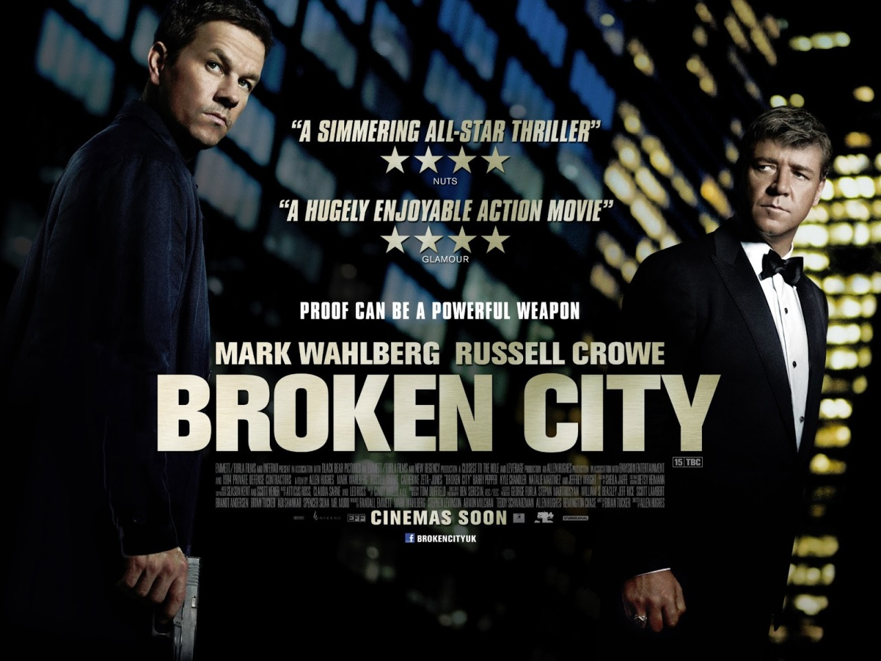 Broken City (2013)  In a city rife with injustice, ex-cop Billy Taggart seeks redemption and revenge after being double-crossed and then framed by its most powerful figure: Mayor Nicholas Hostetler.  It wasn't anything you haven't seen before. Very very very slow pace. I am sure there are better movies out there. The trailer is kind of good, check it out by clicking the poster above (it will take you to YouTube).