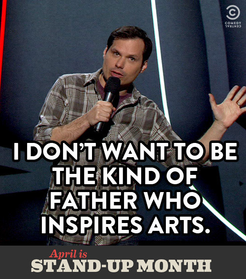 This Stand-Up Month, why not bond with your dad over some Michael Ian Black videos?