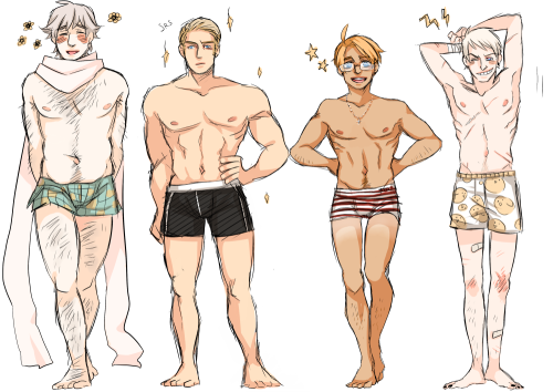 nanihoo:   petrolsocken:   some body headcanons   Ugh I just died Petrol this is perfect