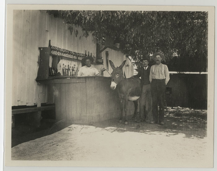 An open bar in Tijuana, Mexico, June 26, 1903. From: [Photographs of San Diego, La Jolla, Tijuana and Ensenada] Catalog record
