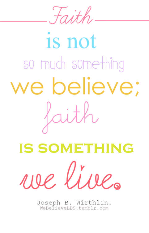 Live Like You Believe.
