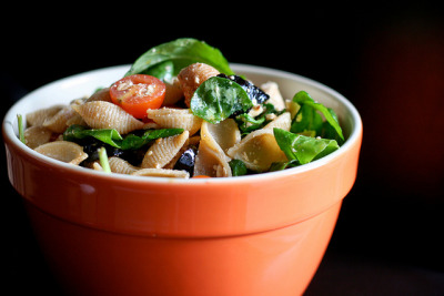 Easy Mediterranean Pasta Salad by bitchincamero on Flickr.