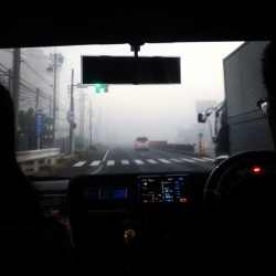Good morning! Foggy Morning. #philippineizakaya #foodtrip #roadtrip #antok #busog #pagod #inumaga #afterworl #coldmorning