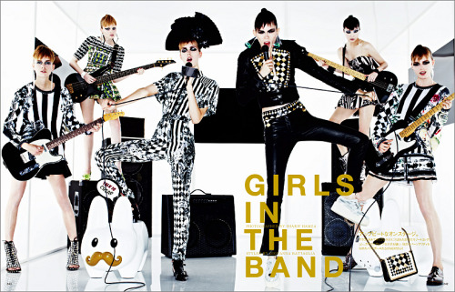 La Mode இ> 'Girls in the Band'  Vogue Nippon, February 2013    credit: vogue japan