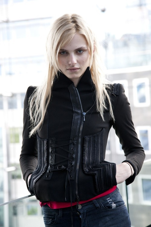 hausofandrejpejic:  Andrej Pejic in Vienna, Austria 2011. Pic from shinybubble.sk  I still want this jacket.
