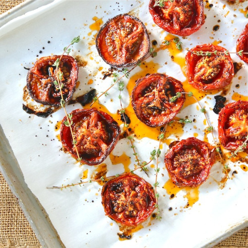 gastrogirl:  slow roasted balsamic tomatoes.