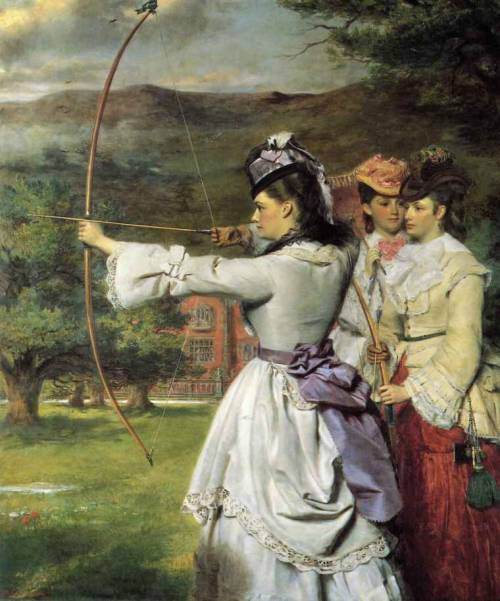 "the-garden-of-delights:  ""English Archers"" (1872) by William Powell Frith (1819-1909)."