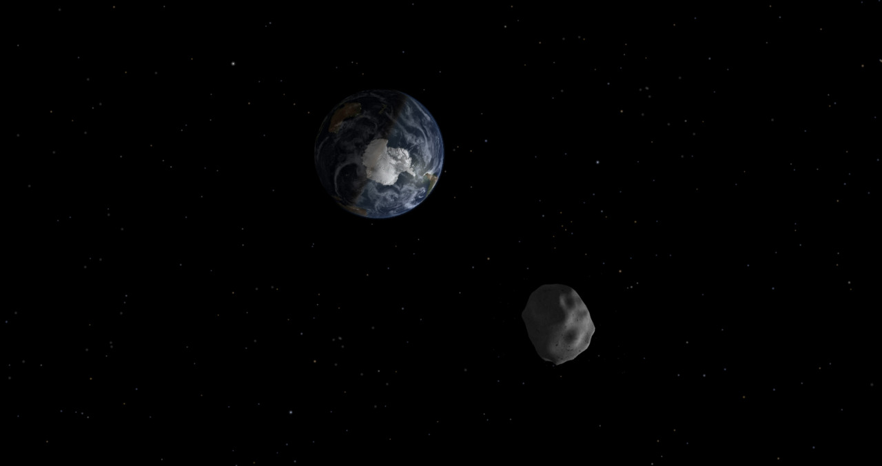 kuwaitigenius:  Asteroid to make close approach to Earth next week Space.com: An asteroid half the size of a football field will make a close approach to Earth next week, but poses no threat of crashing into our planet, NASA officials say.Asteroid 2012 DA14's close encounter is a record-breaking celestial event, according to Don Yeomans, the head of NASA's asteroid-tracking program. An object this large only passes this close to the Earth about once every 40 years, and likely only hits the planet once every 1,200 years, Yeomans says.Photo: A diagram depicting the passage of asteroid 2012 DA14 through the Earth-moon system on Feb. 15, 2013. (Image credit: NASA/JPL-Caltech)   Astroidal neighbor
