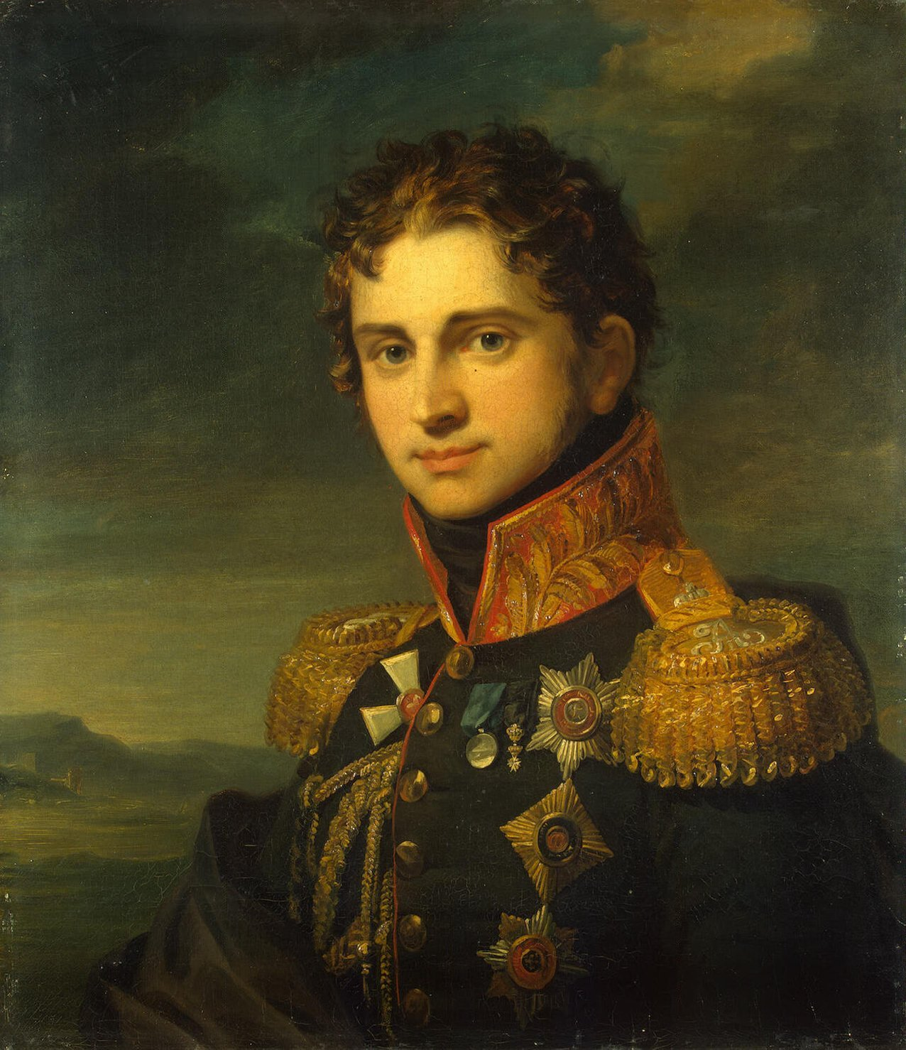 Count Pavel Alexandrovich Stroganov (June 7, 1774 – June 10, 1817) - Painting by George Dawe