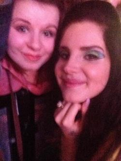 me and lana del rey! idc how bad I look we queued for nine hours in the rain, I was pushed up against the rail and id been crying,