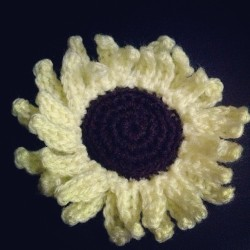 Flower study #1: Sunflower #crochet #diy