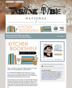 adobe illustrator. // email and web graphics for tasting table's special features.
