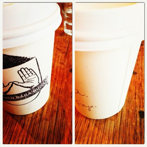 #fayesailoraus2013 caffeine crawl #2: Brother Baba Budan @ Little Bourke St at least he got my name right @tdrawer