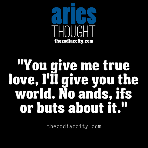 zodiaccity:  Aries thought.