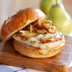 Roasted Pear Turkey Burger