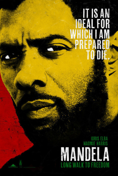 Check out the poster for the upcoming Nelson Mandela biopic starring Idris Elba as Nelson Mandela. British actress Naomie Harris stars as Winnie Mandela. The film will be released by the Weinstein Company on November 29th.