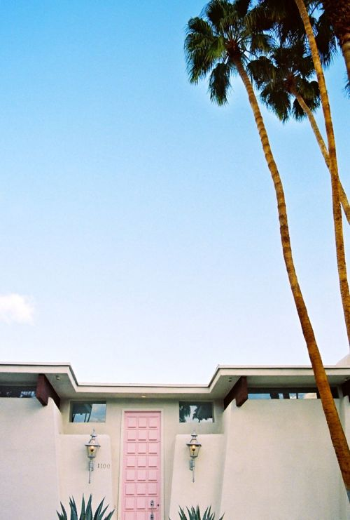 ladreamgirl:  Pink Door, Palm Springs