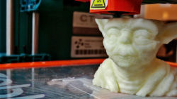 "What 3-D Printing Means To The Future Of Advertising | Co.Create: Creativity \ Culture \ Commerce  Advertisers will be forced to reconcile their physical outputs in the world in a way that spitting out spots and microsites never faced us with. Or, said differently, our ad crap is made more evident when it's a real piece of crap sitting on a desk or floor. We'll have to continue to ask ourselve, ""Is this additive value or just some more crap?"" And the crap factor will, hopefully, make us work harder to do better for audiences who are increasingly immune to our virtual ad crap, more so when it's physical ad crap.  We as consumers will likely find ourselves in a world where, in addition to all the images and messages we are bombarded with today, almost every physical object in public places are designed by somebody in order to make us feel, react, think and ultimately consume in a certain way. A likely reaction against this will be that we will not just close our ears with headphones, but also our eyes to shield our fragile and adaptive minds against all these intrusions."