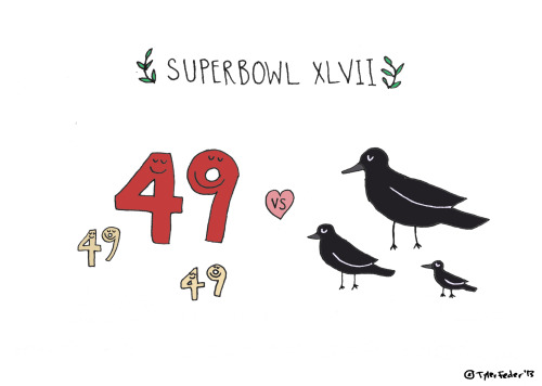 Happy Super Bowl! (by Tyler Feder)