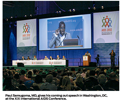 Out of the Shadows During the XIX International AIDS Conference (AIDS 2012) in Washington, DC, last year, Paul Semugoma, MD, gave a passionate speech on behalf of both LGBT and HIV-positive people. Coming out as gay during the speech made it even more memorable. Here's POZ's Q&A with the famous activist on the state of the epidemic, LGBT stigma in Africa and his own experiences coming out.