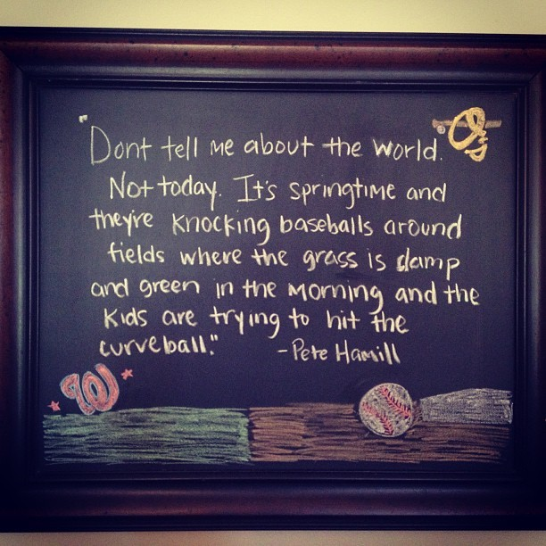 When baseball is here everything is better 😃⚾🇺🇸#chalkboard