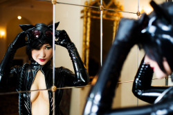 another great shoot by *Mostflogged: Mirror Mirror - Catwoman hottie