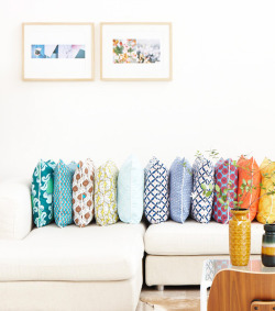 myidealhome:   happy pillows (via New! Nala Design | decor8)