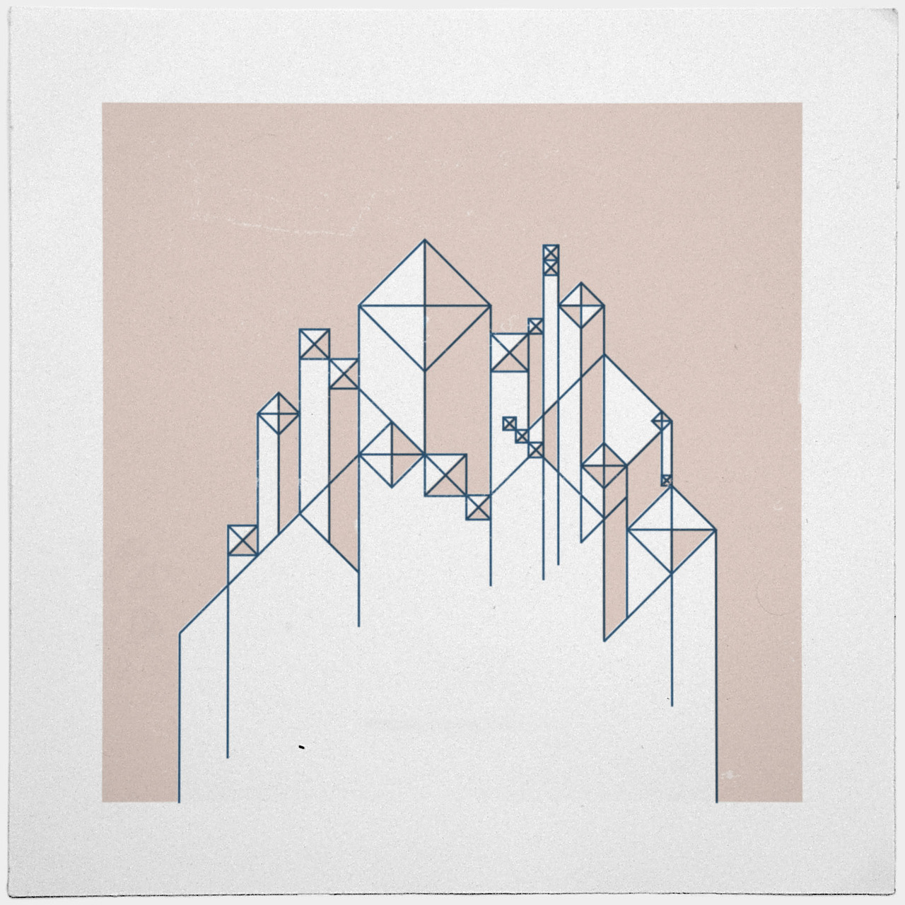 geometrydaily:  #345 For here we have no lasting city, but we seek the city that is to come. – A new minimal geometric composition each day