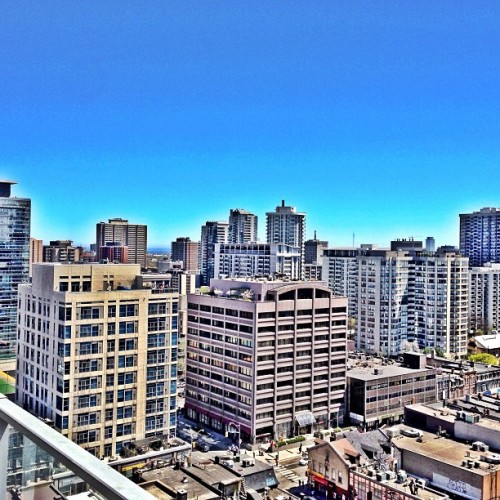 Toronto's east end #summer #toronto #bluesky #rooftop http://bit.ly/12G90Zc