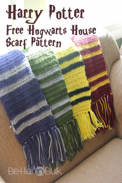 gas-food-lodging:  Harry Potter Scarves  (crocheted) tutorial is here——>  http://betterinbulk.net/2013/02/harry-potter-scarves-pattern.html