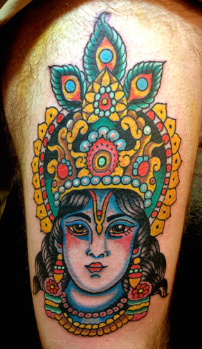 HARE KRISHNA HARE RAMA!!!!!!!!!!! Robert Ryan -ELectric Tattoo N.J. 2013