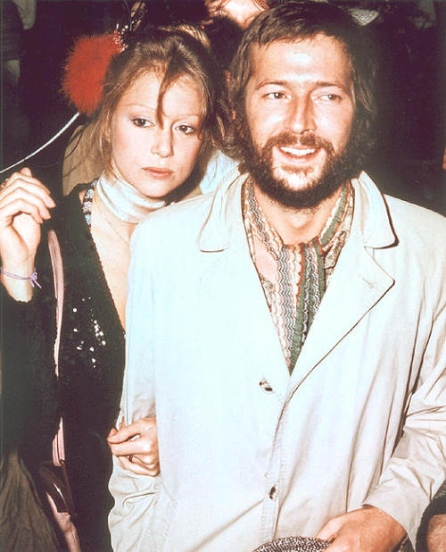 "Eric Clapton and Pattie Boyd attend the premiere of the rock opera ""Tommy"" in London, 27th March 1975."