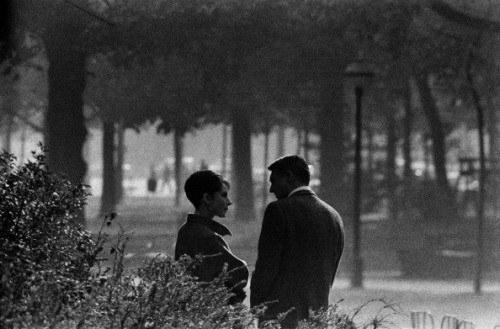 Audrey Hepburn and Cary Grant in Paris filming Charade