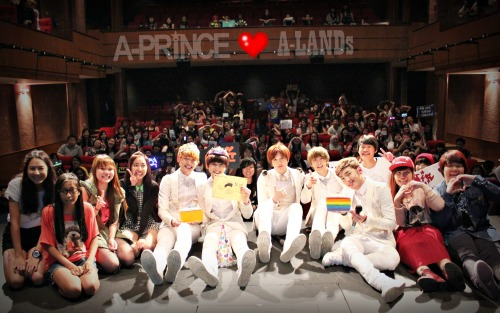 aprinceofficial:  <Staff Diary> Were you at A-Prince showcase yesterday? Can you spot yourself in this picture? We would like to thank all our beloved A-LANDs who came. The screams, the laughters, the cheers and some even cried really gave A-Prince so much energy and will. Last night they couldn't stop talking about their fan interactions and even if it was only for a short span of time, for them those were great memories they'll never forget. They slept with big smiles in their faces.  Please tell us what was/were your favorite part/s in the showcase. Let Sungwon, Minhyuk, Seungjun, Siyoon and Woobin know why. Comment them below this post. If you have a blog please share us the link. If there were also news articles, videos related to the showcase please share them here too ^^.  And of course thank you A-LANDs for making #APrinceInSingapore trend! We can still trend it until today May 19th! New Planet Entertainment Staff