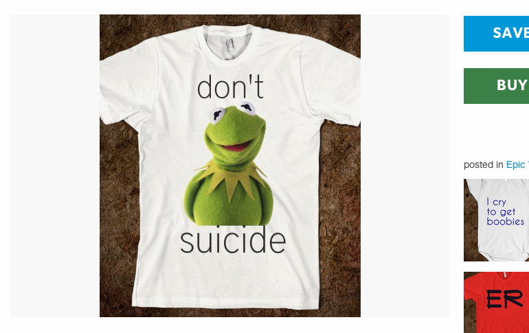 achronicmasturbator:  teamcocket:  what the fuck is this  dont kermit suicide
