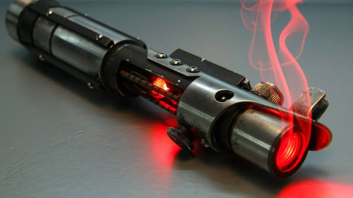 smoking lightsaber
