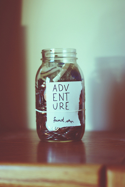 Saving for my adventure with you.
