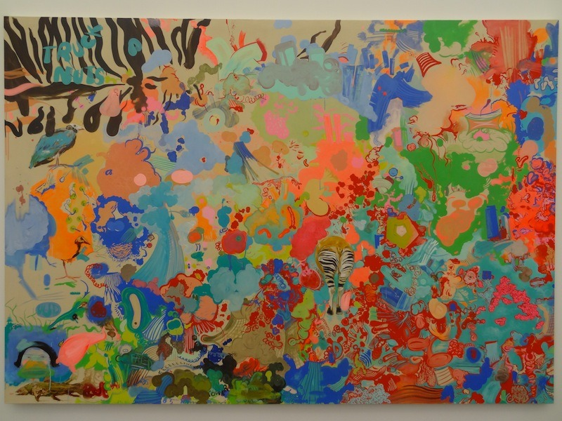 "Sue Williams's delightful recent painting ""Adaptation"" (2012) from 303 Gallery's booth at Frieze New York."