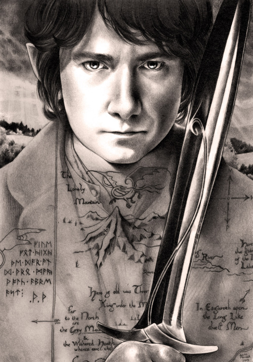"wryer:  averypottermusciallover:  wryer:  A drawing I did of Martin Freeman as Bilbo Baggins for when I meet him and Benedict later this year! I've been so busy with coursework recently which is why I haven't had time to make any ""creative"" work, but fan art is fun my facebook page 