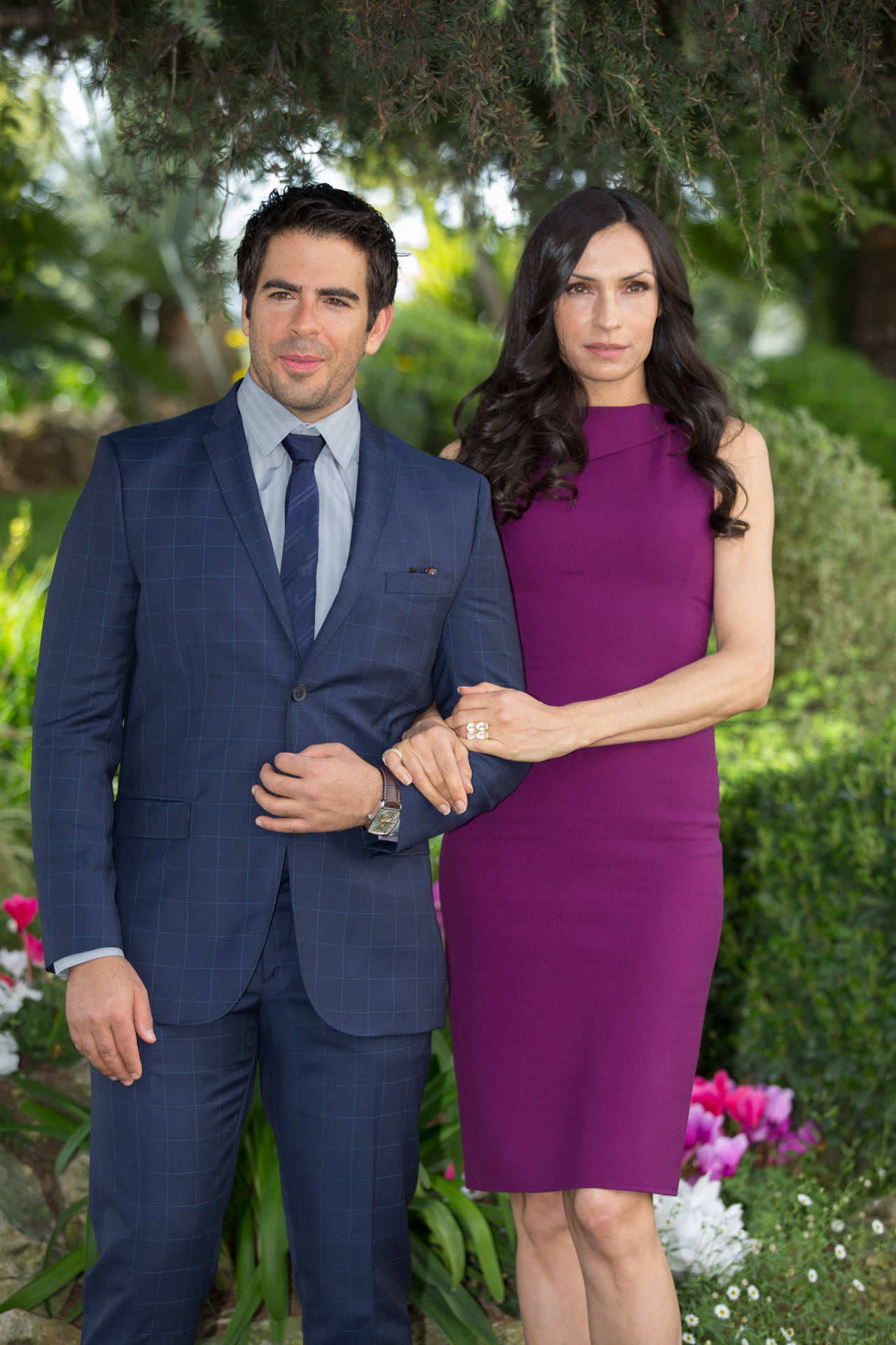 suicideblonde:  Eli Roth and Famke Janssen in Cannes, April 9th  HANDSOME!