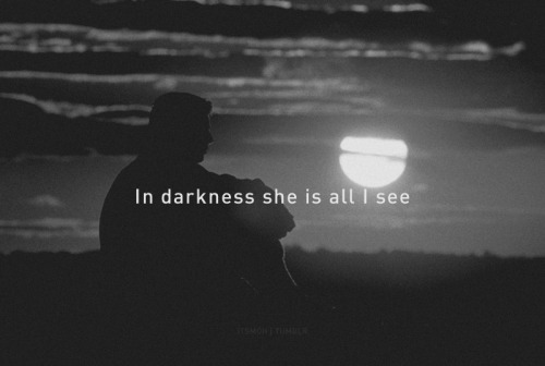 In darkness.