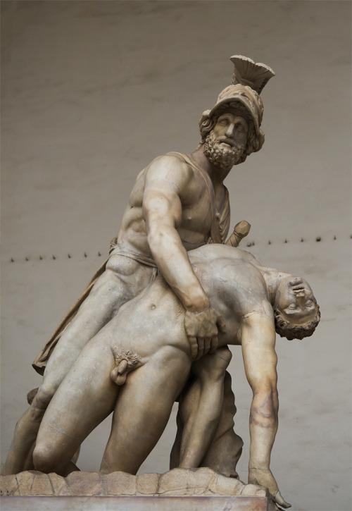 """Patroclus' Death: Patroclus and Menelaus"", 1771, Anton Raphael Mengs. Loggia dei Lanzi, Florence, Italy. (via)"