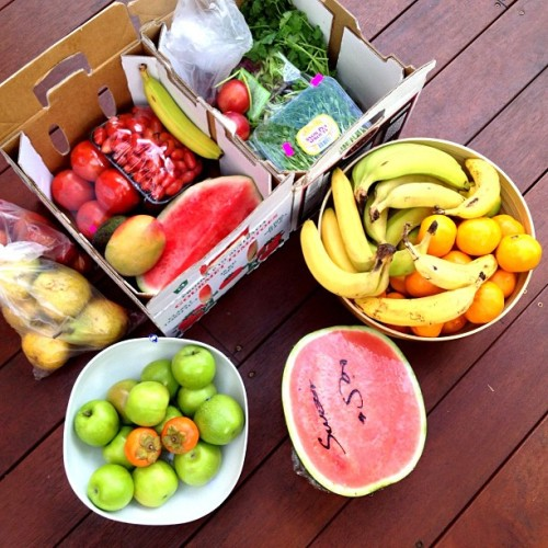 healthy-is-perfection:  k-oosh:  Sunday market haul escalated quickly… Instagram @health_project  omg fresh fruit is my favorite thing in the world